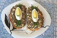 Баклажановый паштет с яйцами