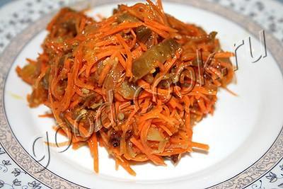 салат с баклажанами и морковью