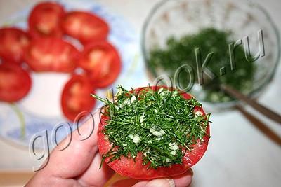 закуска царица тамара рецепт из помидор с чесноком
