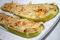 запеченные кабачки с сырной корочкой
