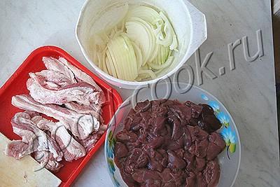 паштет из куриной печени со свининой