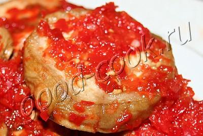 острые баклажаны в маринаде из перца