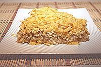 салат с курицей, гречкой и сыром