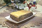 закусочный торт из лаваша с грибами