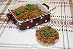 овощной паштет с куриной печенью и грибами