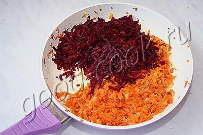 свекольная икра с морковью и луком