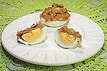запечённые яйца по-французски