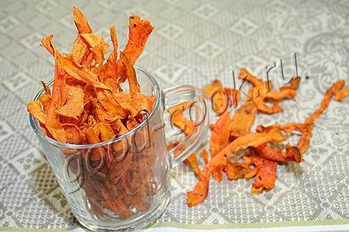 морковные чипсы