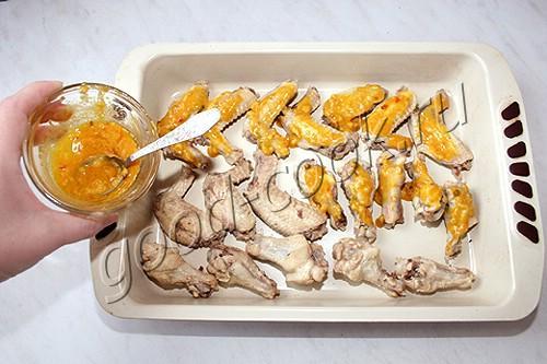 крылышки в горчично-чесночном соусе