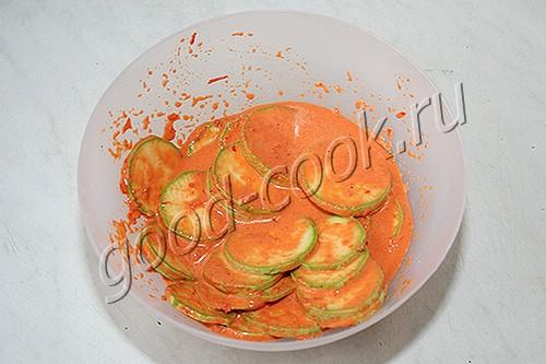 кабачки в маринаде из болгарского перца