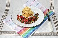 баклажановый салат с огурцами и помидорами