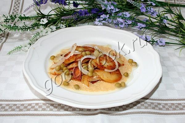 рецепт картофельный салат с луком и