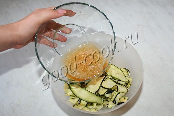 кабачки маринованные с мёдом