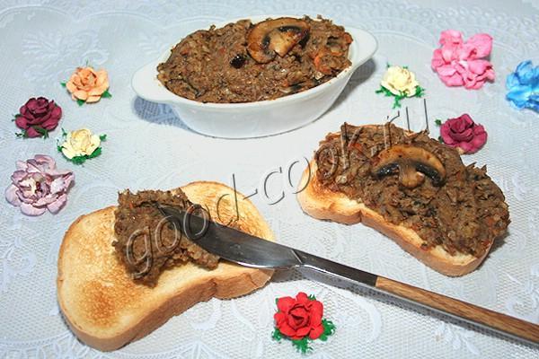 грибной паштет с гречкой