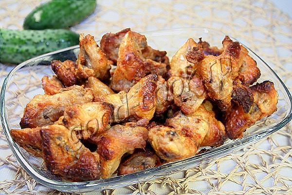 хрустящие запеченные куриные хвостики