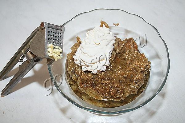 баклажановый паштет с йогуртом по-турецки