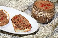 паштет из куриной печени с фасолью