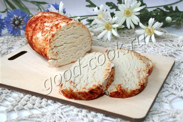 холодный куриный паштет с сыром