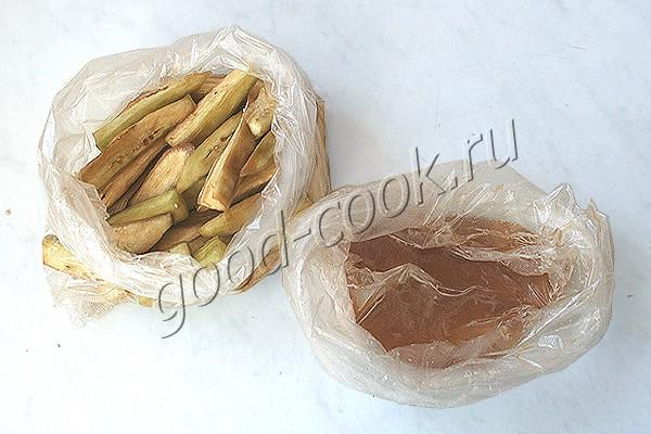 запеченные баклажановые палочки