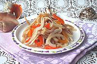маринованные кальмары с болгарским перцем