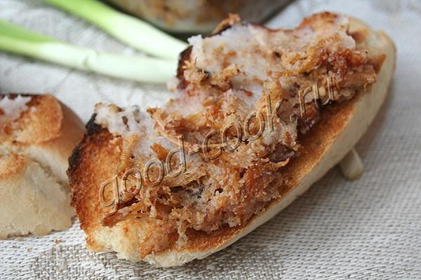 рийет (паштет) из свинины с яблоками