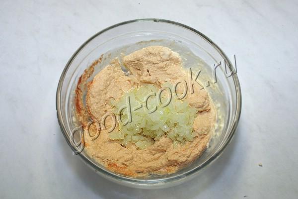 яичный паштет с луком