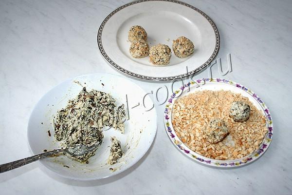 """закуска """"Грибные шарики"""""""