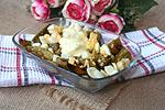 баклажановый салат с луком и яйцами