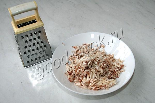 запечённый багет с грибами