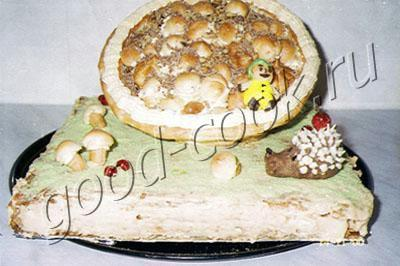 торт Корзинка из заварного теста