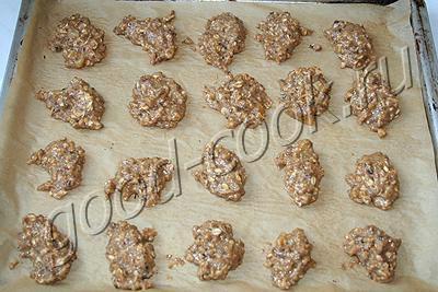 овсяные печенья с медом и орехами