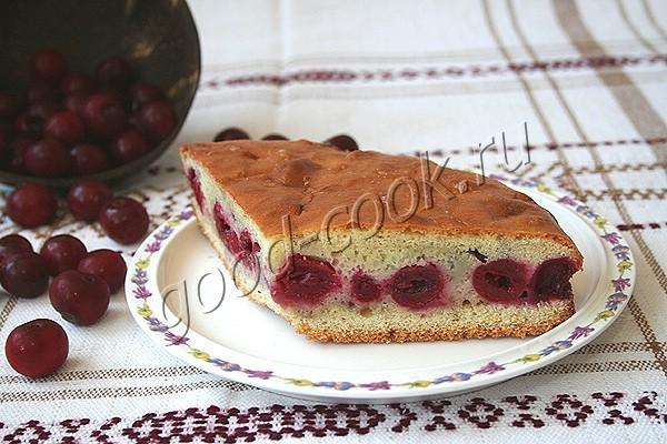быстрый пирог с ягодами