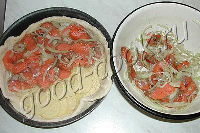 пирог из красной рыбы