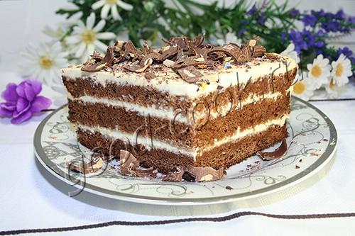 Рецепт домашнего тортика негр