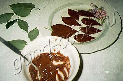 шоколадные листики