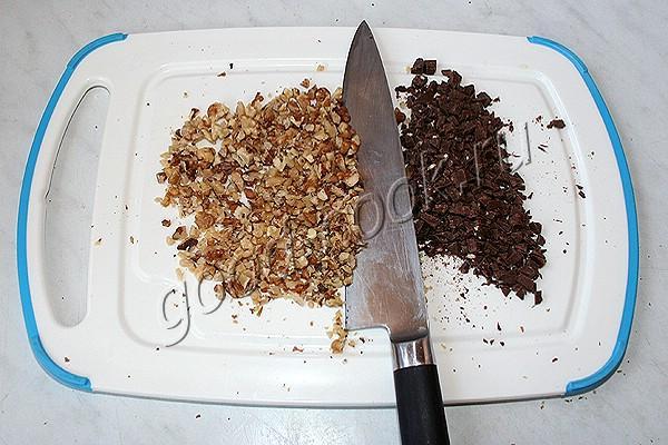 ореховое печенье с шоколадной крошкой