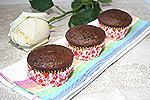 шоколадные кексы с варёной сгущёнкой