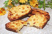 запеченные гренки с сыром
