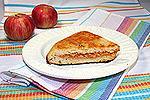 жареная лепёшка с яблочной начинкой