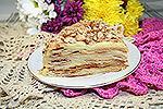 торт Наполеон с заварным яблочным кремом