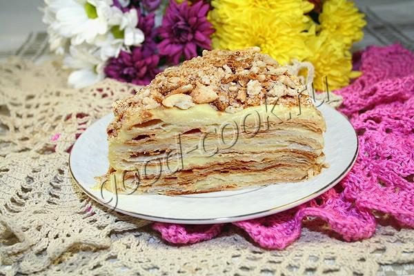 """торт """"Наполеон"""" с заварным яблочным кремом"""