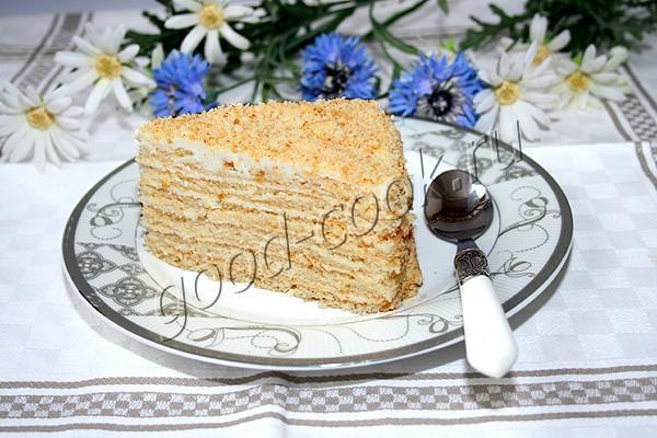 """торт """"Молочная девочка"""" с творожно-сметанным кремом"""