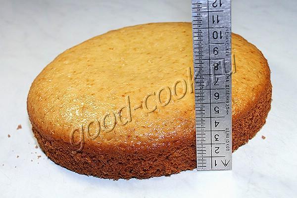 постный бисквит на апельсиновом соке