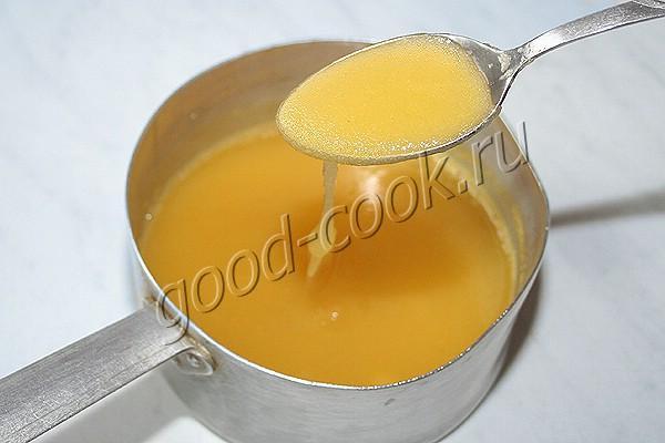 постный крем на апельсиновом соке