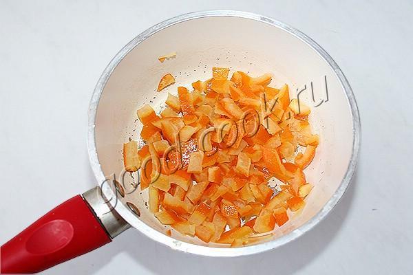блины с апельсиновыми цукатами