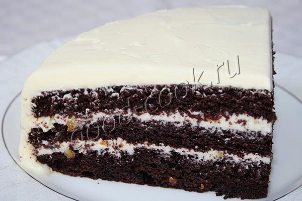 шоколадный торт с апельсиновыми цукатами