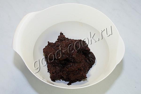 постный шоколадный крем на манке