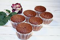 шоколадные кексы на твороге и кефире