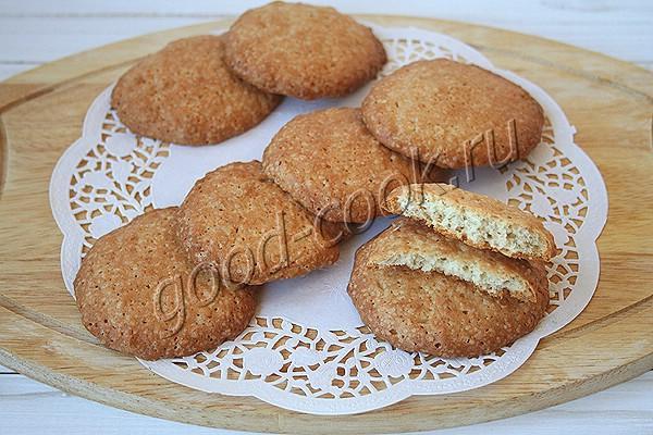 простое овсяное печенье