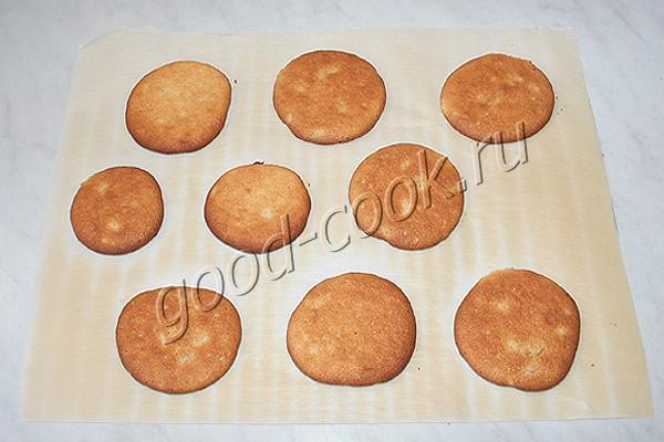 молочное печенье с орехами